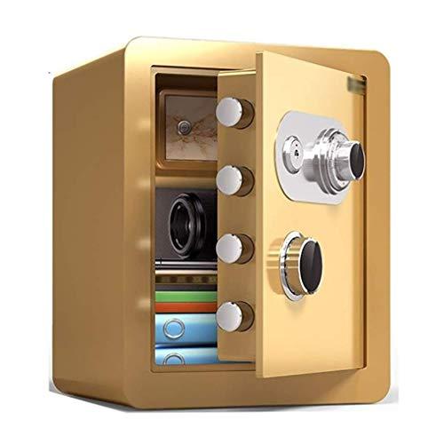 Caja fuerte de seguridad, caja fuerte a prueba de fuego, resistente al agua con cerradura de combinación mecánica, caja fuerte pequeña para el hogar, caja de seguridad antirrobo de acero para mini of