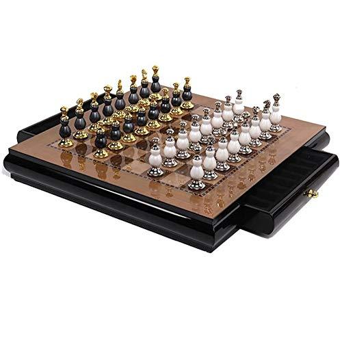 WGIRL Internationales Schach, Schachbrett Soft-Dekoration Ornamente Zink-Legierung Schach-Stücke Wohnzimmer-Dekoration Crafts Schach High-End-Dekorationen Wohnaccessoires Schach,A