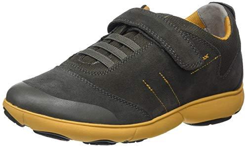 Geox Jungen J Nebula Boy A Sneaker, Grün (Military/Yellow C0099), 31 EU