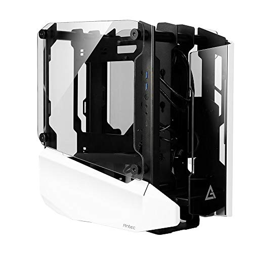 Antec Striker Aluminum and Steel ITX Computer Case, Front GPU Mount, Up to 4 x 120 mm Fan Support, USB 3.1 Type-C Ready and PCI-E Riser Included (StrikerMini)