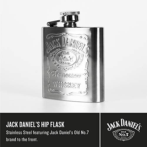 Jack Daniel's Stainless Steel Hip Flask 6oz Jack Daniel's Edelstahl-Flachmann, 170 ml