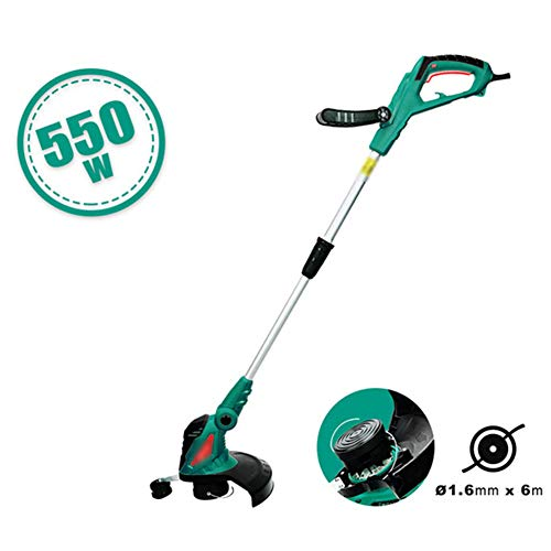 Great Deal! HS-MANWEI Electric Grass Trimmer 550W Hand Cleaner Grass Cutter Machine Line Trimmer Aju...