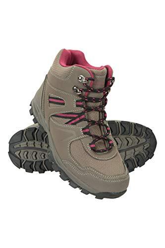 Mountain Warehouse McLeod Bequeme Stiefel für Damen - Atmungsaktive Stiefel, strapazierfähige Wanderstiefel, gepolsterte Wanderschuhe - Ideal für Trekking und Reisen Hellbraun 41 EU