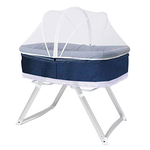 Lowest Prices! Rocking Chair Bedside Sleeper Baby Bassinet Rocking Crib with Mosquito Net Handbag In...