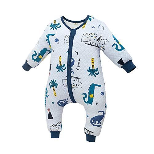 JunNeng Toddler Baby Cotton Sleep Bag Sleep Sack with Leg,Boy Girl Early Walker Warm Wearable Blankets Dinosaur