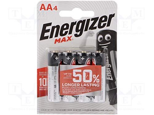 mächtig AA Energizer maximale Alkalibatterien (Mignon / LR6, 4)