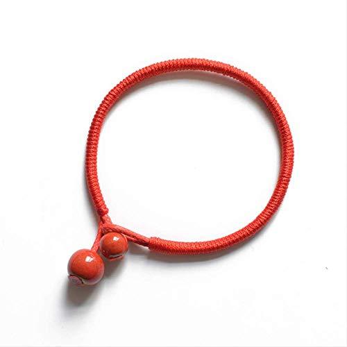 Dit leven jaar rode touw armband mannen en vrouwen veel geluk Ping Een hand sieraden om honing cadeau te sturen