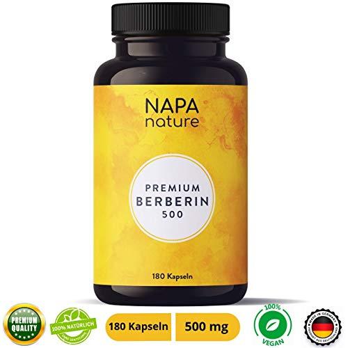 *EINFÜHRUNGSANGEBOT*: Berberin 500 mg | 180 Kapseln hochdosiert | NAPA Nature | Laborgeprüfte...
