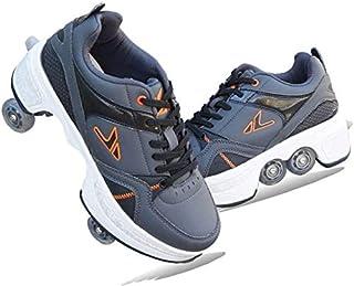Djustable 4 Wheel Roller Skates Boots, 2-in-1 Multi-Purpose Shoes, Suitable For Children, Beginner