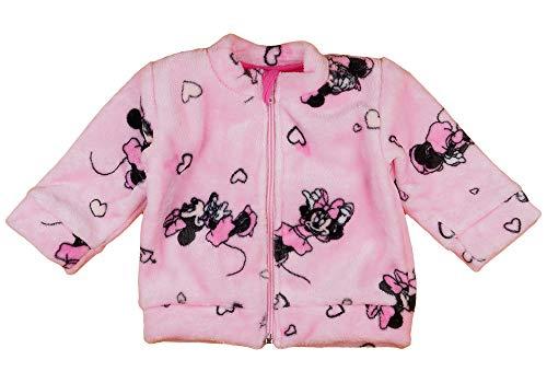 Kleines Kleid Baby Jacke Mädchen Größe 56 62 68 74 80 86 Minnie Mouse Disney Rot mit Herzen ohne Kapuze 0-6 Monate 6-9 Monate Winter oder Sommer Neugeborene (Modell 2, 62)