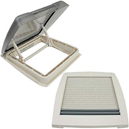 Fiamma Dachfenster Vent 40x40 Cm Weiß Dekalin Dichmittel Schrauben Für Wohnwagen Oder Wohnmobil Auto