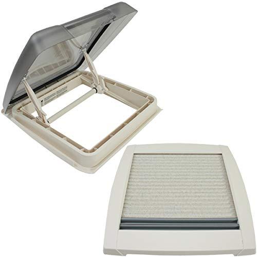 MPK VisionStar M Pro Trappe de toit, en verre transparent, teintée, 40 x 40cm, fenêtre de toit, lucarne en blanc perle