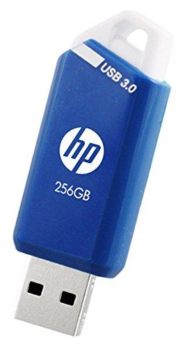 HP USBメモリ 256GB USB3.0 高速 青と白の色スライド式のフラッシュドライブ x755w HPFD755W-256