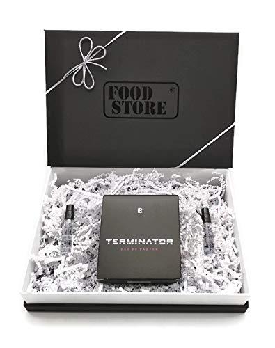 1x LR Terminator Eau de Parfum 50ml + Mini Vapos mit hochwertiger Foodstore Geschenkverpackung