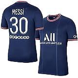 Nuaueaw Messi Frankreich Fußballtrikot Messi Fußballtrikot # 30 T-Shirts (LS,S)