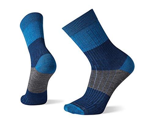 Smartwool Men's Rib Color Block Crew Merino Wool Socks, Alpine Blue, Extra Large