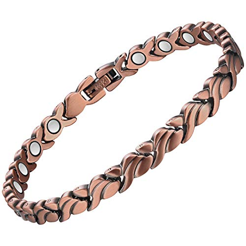 Wincone Magnetic Copper Bracelet for Women Powered 3500 Gauss Magnets...