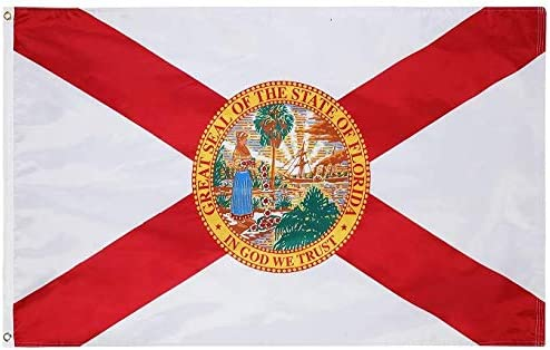 Cascade Point State of Florida Flag 4x6 Feet Oxford 200D Heavy Duty Nylon Silk Screen Printing product image