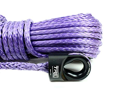 Best Buy! Tactical Recovery Equipment 3/8 X 85 ft. Synthetic Winch Rope - Purple