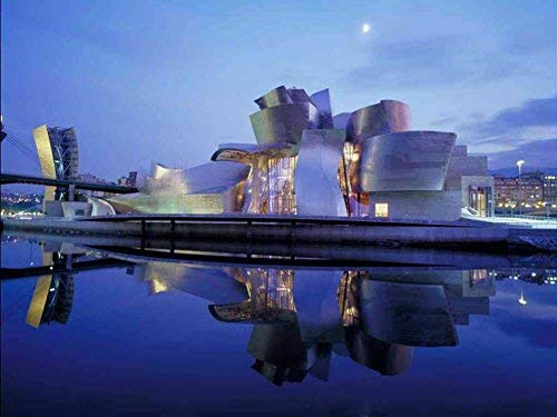YYone 1000 Piece Wooden Jigsaw Puzzle Guggenheim Museum, Bilbao (Spain) Large Puzzle Game for Adults and Teenagers