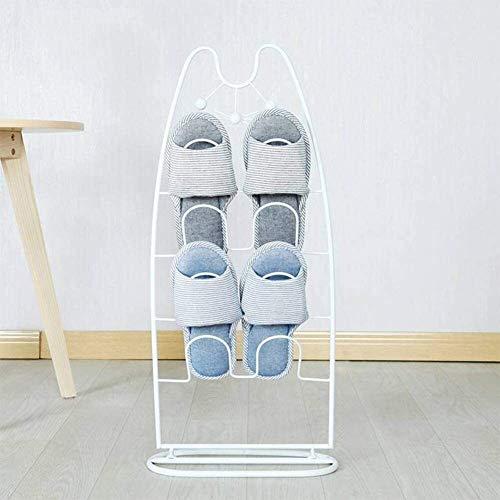 Zapatero Zapatillas Baño colgantes rack Baño Aseo Ducha locales se pusieron zapatero Planta de almacenamiento en rack Zapatillas ahorra espacio Fácil de montar ( Color : White , Size : 33*15*72 cm )