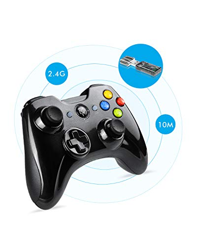 EasySMX Gaming Controller, 2.4G Wireless Gamepad, PS3 Controller, Dual Vibration, 8 Stunden Spielzeit für PS3/PC/Android TV-Box