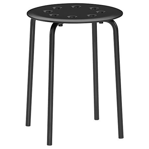 Ikea 101.356.59 Marius Hocker in schwarz stapelbar (45cm)