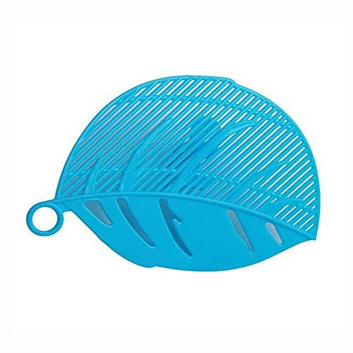 Keuken clip, blad-vormige rijst afdruiprek voor groente- en schoonmaken van gereedschappen met blad-vormige filter
