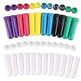 El inhalador nasal en blanco de Aromatherapy del aceite esencial pega 12 tubos vacíos o mechas del...