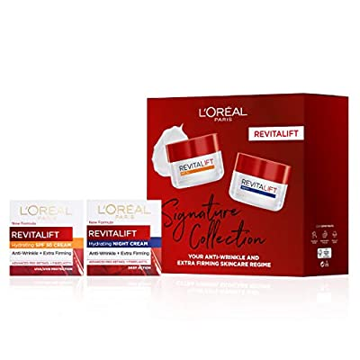 L'Oreal Paris Revitalift Signature Collection SPF Day Cream + Night Cream Skincare Anti Wrinkle Gift Set For Her by L'Oréal