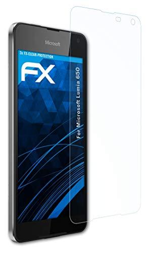 atFolix Schutzfolie kompatibel mit Microsoft Lumia 650 Folie, ultraklare FX Bildschirmschutzfolie (3X)