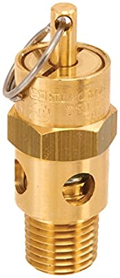 Control Devices SA25-1A060 SA Series Brass Hard Seat ASME Safety Valve, 60 psi Set Pressure, 1/4 Male NPT by Control Devices