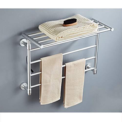 JBED-one Calentador de Toallas Calentador 220V Calentador para baño en casa Secado de Fibra de Carbono Temperatura Constante,Silver