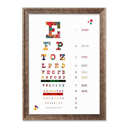 Eye Chart Watercolor Poster Art Print Optometry Office Decor Medical Decor Optometrist Doctor Typography Art