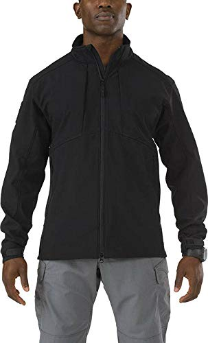 5.11 Tactical Series Sierra Softshell Jacket Homme, Black, FR : S (Taille Fabricant : S)