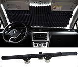 ECFAC Car Windshield Sun Shade, Retractable Sun Shade, Easy to Install and Use, Universal Car Sun Shades Keep Your Vehicle Cool