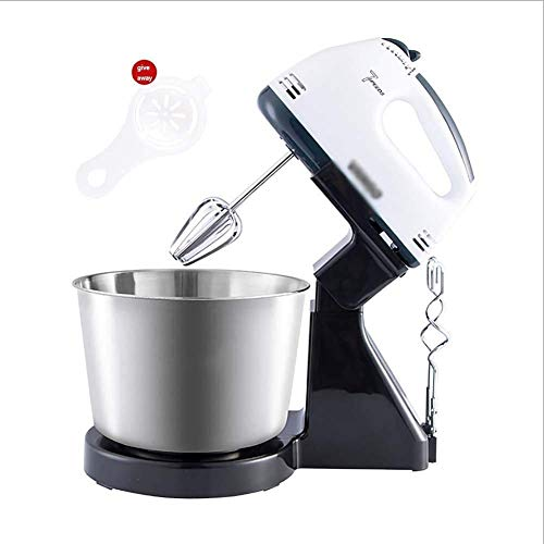 FZYE Robot de pastelería Petrin Robot multifunción Robot Profesional de Cocina con batidor y Gancho Cuenco de Acero Pantalla Plateada