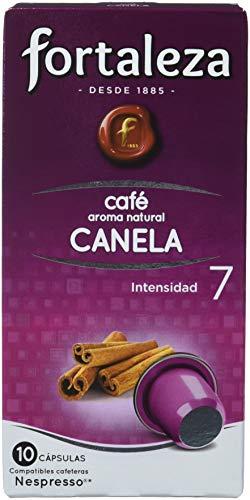 Café FORTALEZA - Cápsulas de Café con Aroma a Canela Compatibles con Nespresso, Caja con 10 Cápsulas, 50g