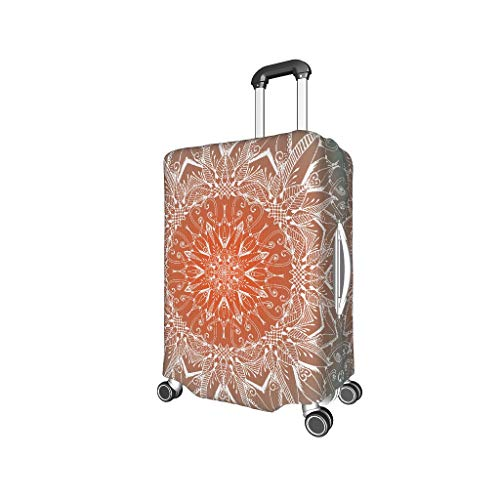 Knowikonwn Mandela-Reisetasche für Gepäck, Mandela-Motiv, 3D-Druck, Verschiedene Größen, weiß (Weiß) - Knowikonwn-scc