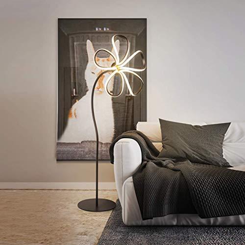 UWY Stehlampe 30W LED dimmbar, Moderne kreative Blumen Stehlampe mit Fernbedienung, Schmiedeeisen Augenschutz Leselampe für Wohnzimmer Hotel Schlafzimmer dekorativ
