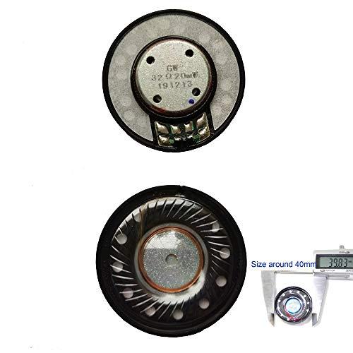 1pair 40mm Headphone Speaker Driver 32ohm for Bose quietcomfort QC2 QC15 QC25 QC35 QC3 AE2 OE2, Studio, Razer Kraken 7. 1, Akg K55, Marshall Major 2 Headset Replacement Speaker Parts