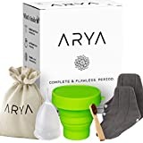 ARYA Menstrual Box - Eco Friendly Period Pack with Menstrual Cup, Steriliser, Reusable