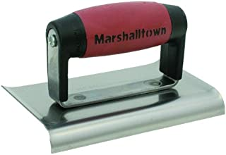 MARSHALLTOWN The Premier Line 136SSD 6-Inch by 3-Inch Stainless Steel Edger with DuraSoft Handle