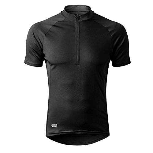 INBIKE Cycling Jersey Men, Short Sleeve Shirt Bike Accessories Running Tops Bike Biking Shirt Black Medium