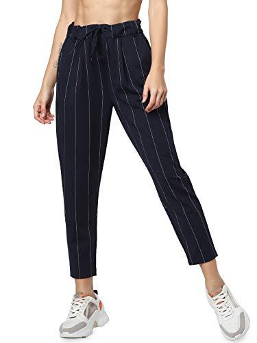 ONLY Damen onlPOPTRASH Tempo Stripe Pant PNT NOOS Hose, Mehrfarbig (Night Sky Stripes:White), W29/L30(Herstellergröße: M)