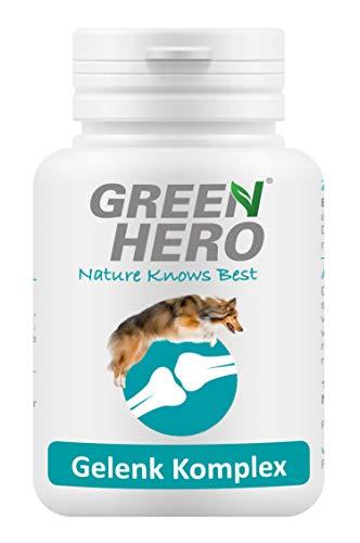Green Hero Gelenk Komplex Gelenktabletten für Hunde mit Grünlippmuschel Teufelskralle MSM 100 Kautabletten