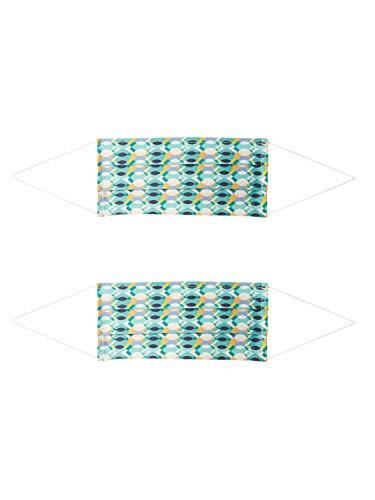 Zwillingsherz Unisex Mund-Nasen-Maske 2er Pack Retro mischfarben One Size