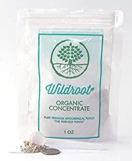 Wildroot Organic Mycorrhizal Fungi Concentrate (16 Species) Endo & Ecto Mycorrhizae Inoculant Powder for Explosive Plant Root Growth -1 Scoop (About 1/4 TSP.) Makes 1 Gal (Powder, 1 oz.)