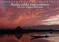 Burmesische Impressionen (Tischkalender 2022 DIN A5 quer): Impressionen einer Reise durch Myanmar (Monatskalender, 14 Seiten )