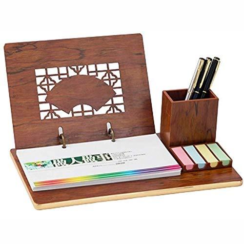 Yxp 2020 Wooden Pen Note Holder Calendario Business Plan Questo Stile Cinese Hollow Nuova Imitazione Mogano Calendario da Tavolo,Marrone,D